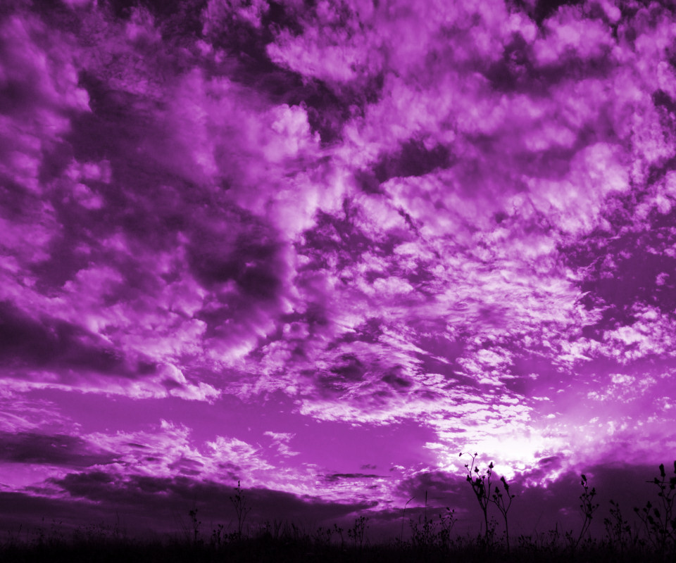 Clouds in purple sky 2