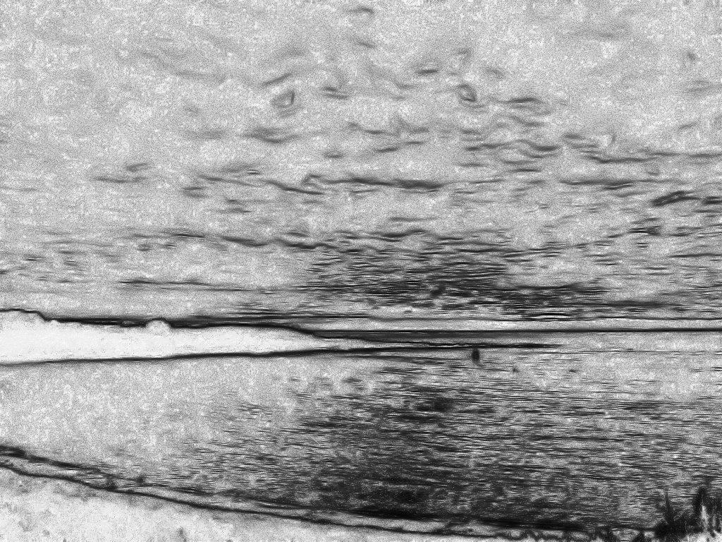 Ocean Sunset Drawing