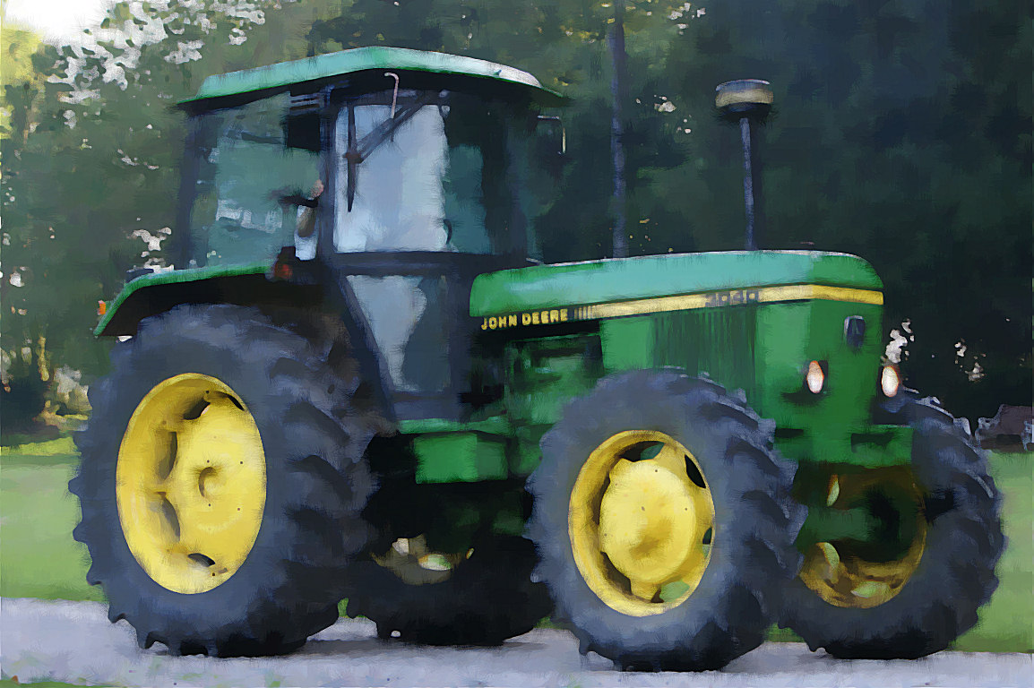 John Deere Tractor Desktop Wallpaper http://www.irishviews.com/watercolour/tractor.html